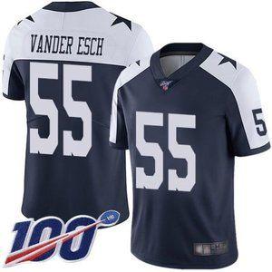 Cowboys Leighton Vander Esch 100th Season Jersey 1